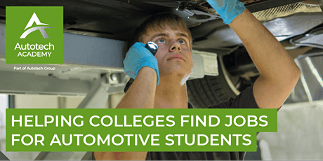 An Initiative to Help Colleges Find Jobs for Automotive Students tickets