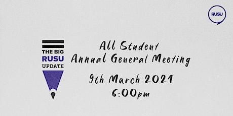 The Big RUSU Update: Annual General Meeting tickets