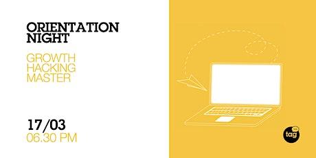 Orientation Night | Growth Hacking Marketing Master biglietti