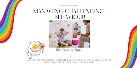 Managing Challenging Behaviour tickets