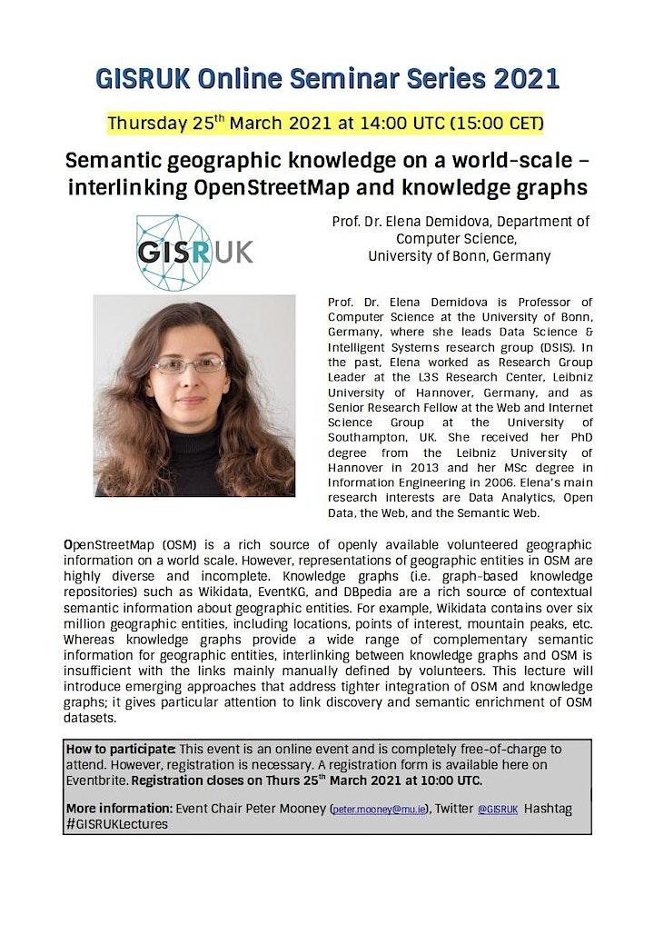 GISRUK Online Seminar Series 2021 - Seminar #1 image