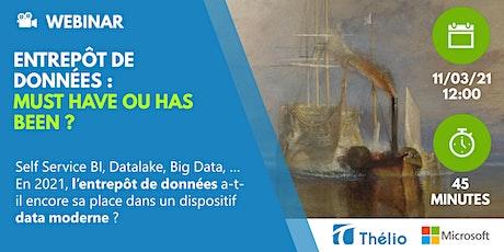 Table Ronde : En 2021, un entrepôt de données, c'est dépassé ? billets