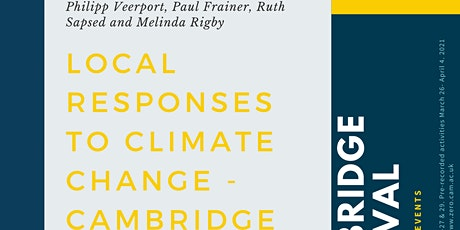 Local responses to climate change - Cambridge tickets