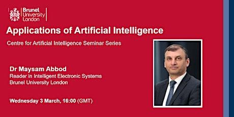 Applications of Artificial Intelligence biglietti