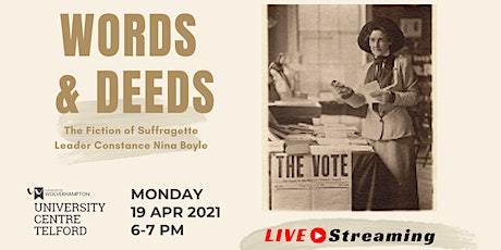 Words & Deeds: The Fiction of Suffragette Leader Constance Nina Boyle tickets