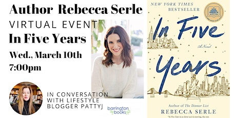 Author Rebecca Serle: In Five Years tickets