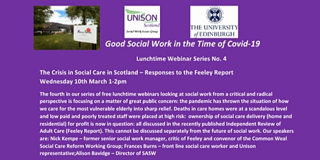Good Social Work in the Time of Covid-19  Lunchtime Webinar Series No.4 tickets