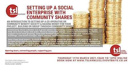 Setting Up a Social Enterprise with Community Shares tickets