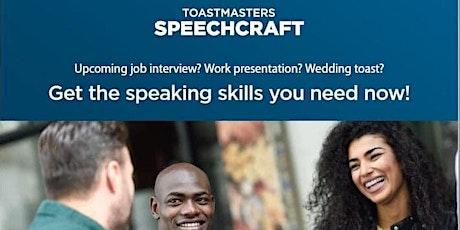 Six week public speaking workshop - Speechcraft tickets