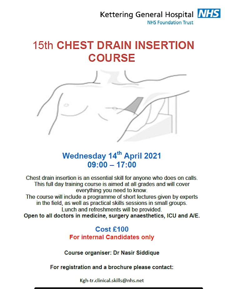 Chest Drain Course - KGH staff Only image