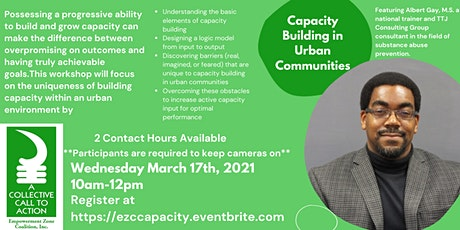 Capacity Building in Urban Communities tickets