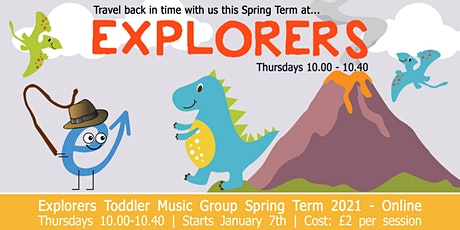 Evolve Music's Explorers Online Music Group for babies & toddlers - Spring tickets