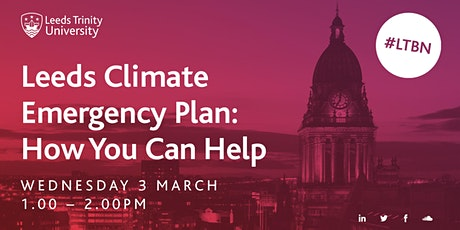 The Leeds Climate Emergency Plan: How You Can Help tickets