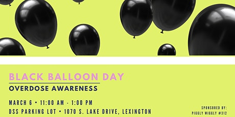 Black Balloon Day: Remembering Lives Lost Due to Overdose tickets