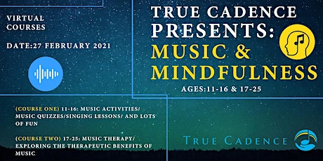 Music and Mindfulness: Free creative well-being programme for 11-25s. tickets