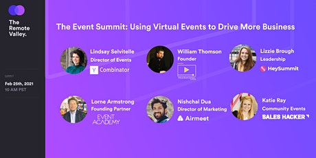The Event Summit: Using Virtual Events to Drive More Business tickets