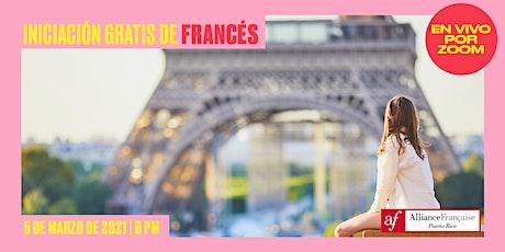 Iniciación gratis de francés - Clase gratuita online para principiantes boletos