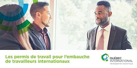 Les permis de travail pour l'embauche de travailleurs internationaux billets