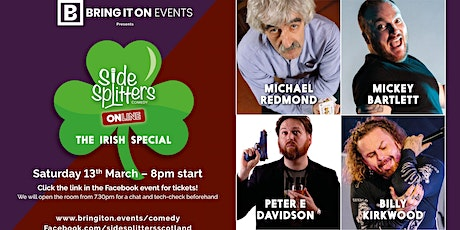 Bring It On Events presents Sidesplitters Online: The Irish Special! tickets