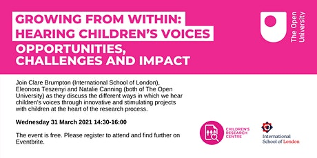 Growing from within: Hearing Children's Voices tickets