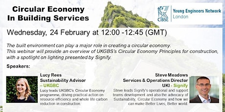 CIBSE YEN London: Circular Economy in Building Services tickets