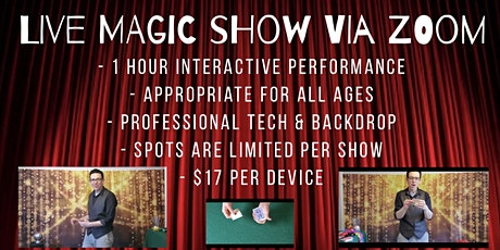 Live Magic Show via ZOOM tickets