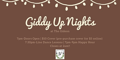 Giddy Up Nights at The Gideon tickets