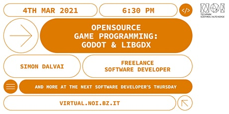 Software Developers' Thursday - OpenSource game programming: Godot & LibGDX biglietti