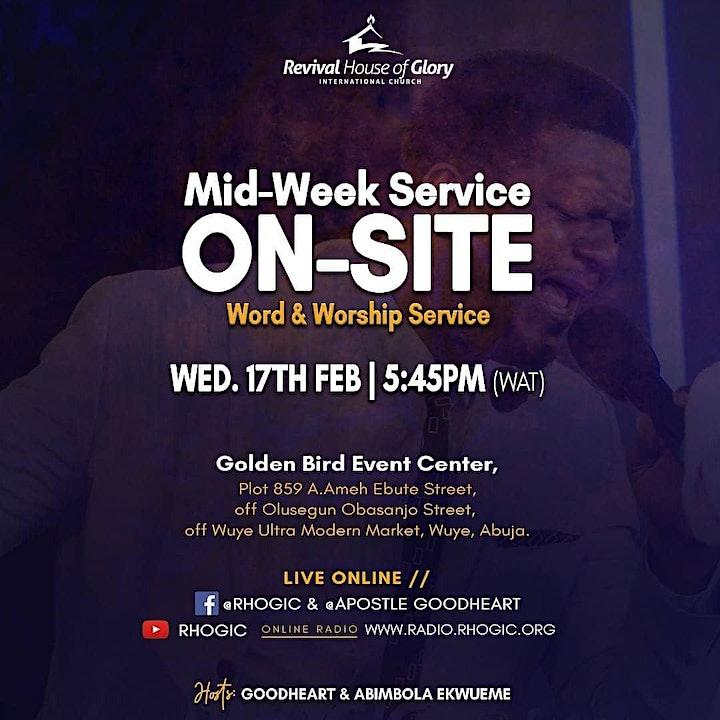 RHOGIC Mid-Week Service - 17th February 2021 image