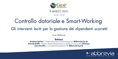 Controllo datoriale e Smart Working biglietti