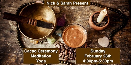 Open Your Heart with a Cacao Ceremony, Meditation, & Yoga tickets