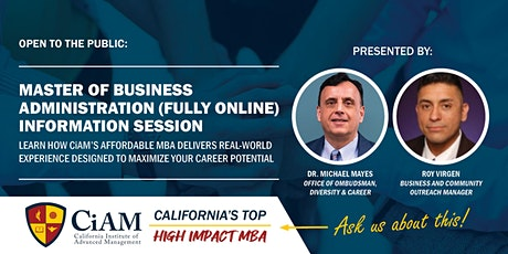 Master of Business Administration (Fully Online) Information Session tickets