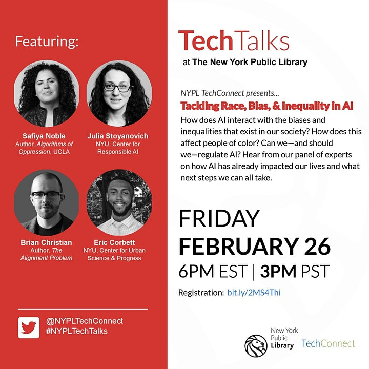 TechTalks: Tackling Race, Bias & Inequality in Artificial Intelligence image