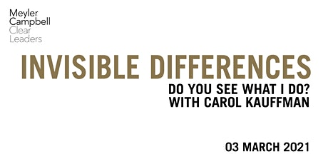 Invisible Differences: Do you see what I do? With Carol Kauffman tickets