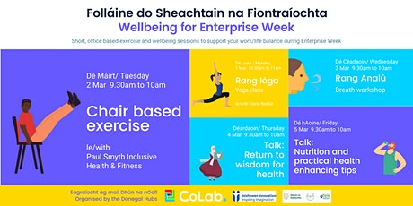 Wellbeing for Enterprise Week - Chair based exercise class tickets