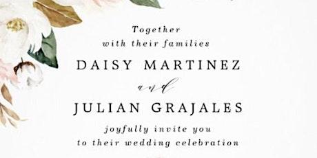 Wedding of Daisy Martinez & Julian Grajales tickets