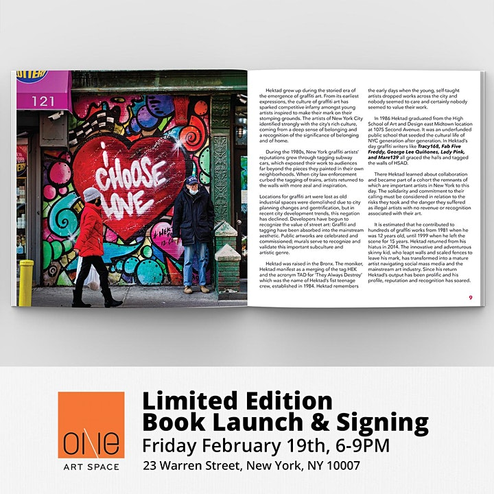 HEKTAD Artist Talk & Limited Edition Book Launch & Signing image