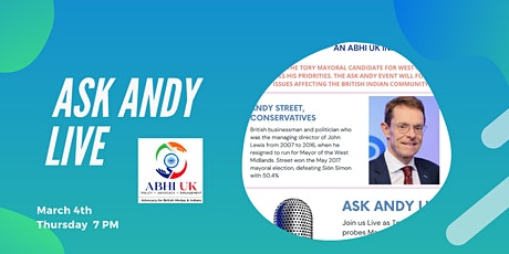 ABHI UK in conversation with Andy Street CBE tickets