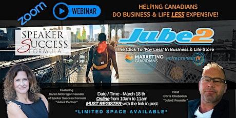 Ep 4 - Karen McGregor - Jube2's & partners that save your Biz & Life money tickets