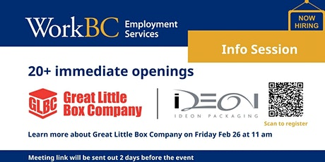 Virtual Employer Info Session with the Great Little Box Company (Richmond) tickets