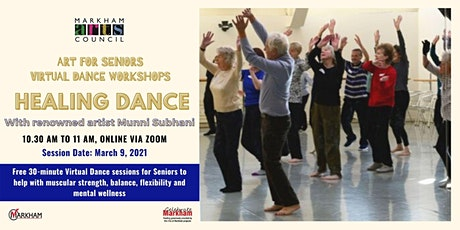 Art for Seniors - Healing Dance Session - March 9, 2021 tickets