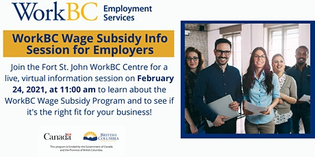 WorkBC Wage Subsidy Info Session for Employers tickets