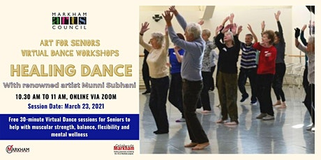 Art for Seniors - Healing Dance Session - March 23, 2021 tickets