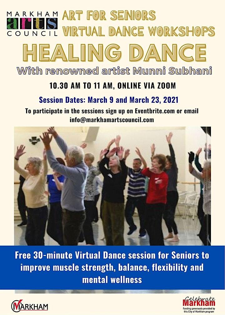 Art for Seniors - Healing Dance Session - March 23, 2021 image