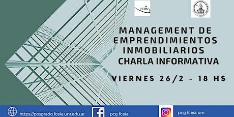 CHARLA INFORMATIVA MANAGEMENT DE EMPRENDIMIENTOS INMOBILIAIROS entradas