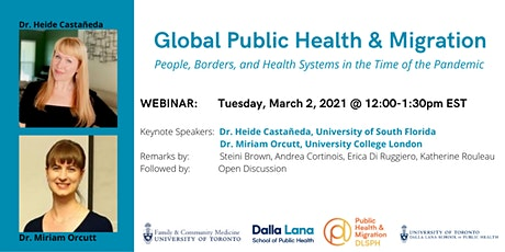 Global Public Health and Migration: People, Borders, and Health Systems tickets