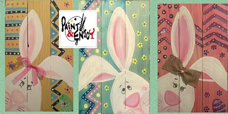 "Paint and Enjoy at The Hub & Corner Cafe  ""Bunny "" on Wood tickets"