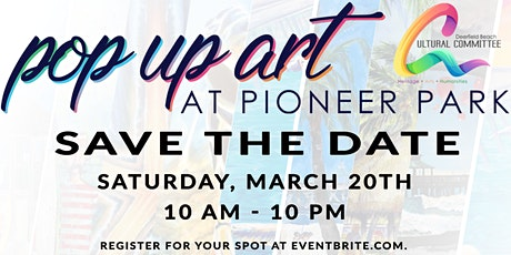 Pop up Art at Pioneer Park tickets