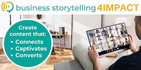 Business Storytelling4IMPACT ∣ Live Virtual Training tickets