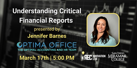 Understanding Financial Reports with Jennifer Barnes tickets